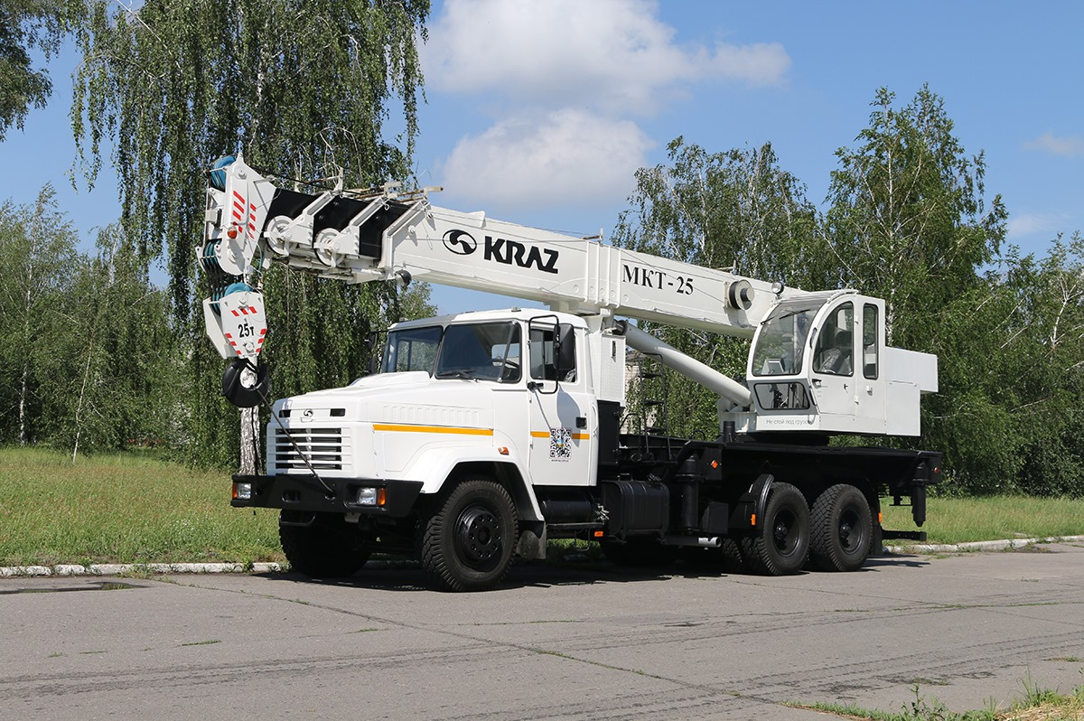 25-тонный автокран МКТ-25 на базе КрАЗ- 65053 работать в ООО «Феррострой»