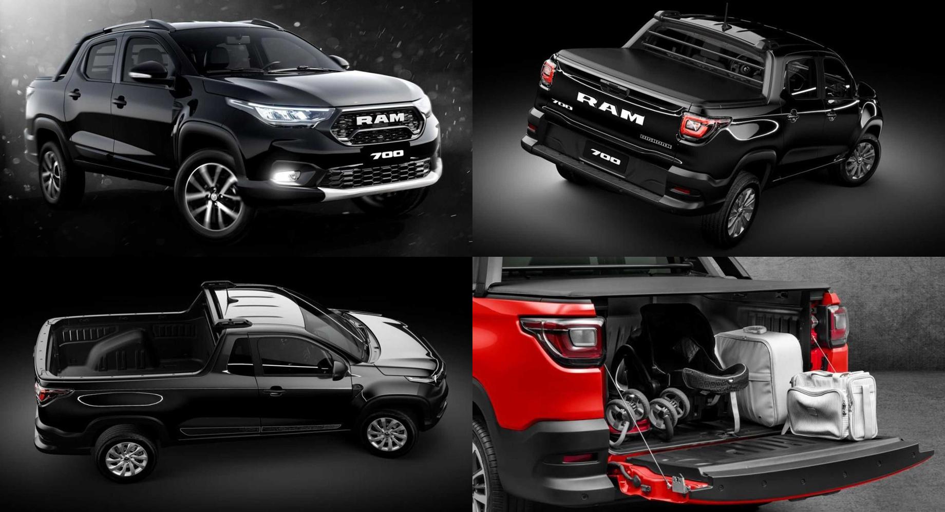 Новий Ram 700 очікувано повторив пікап Fiat Strada