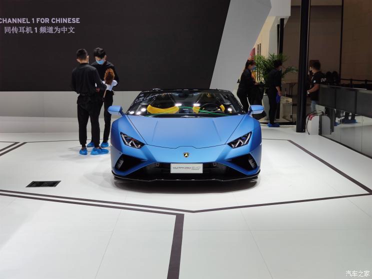 На Пекинском автосалоне дебютировал заднеприводный кабриолет Lamborghini Huracan EVO