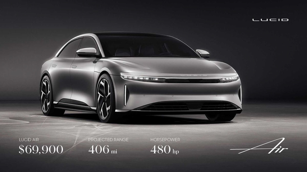 Lucid Motors оголосив вартість свого першого електрокара