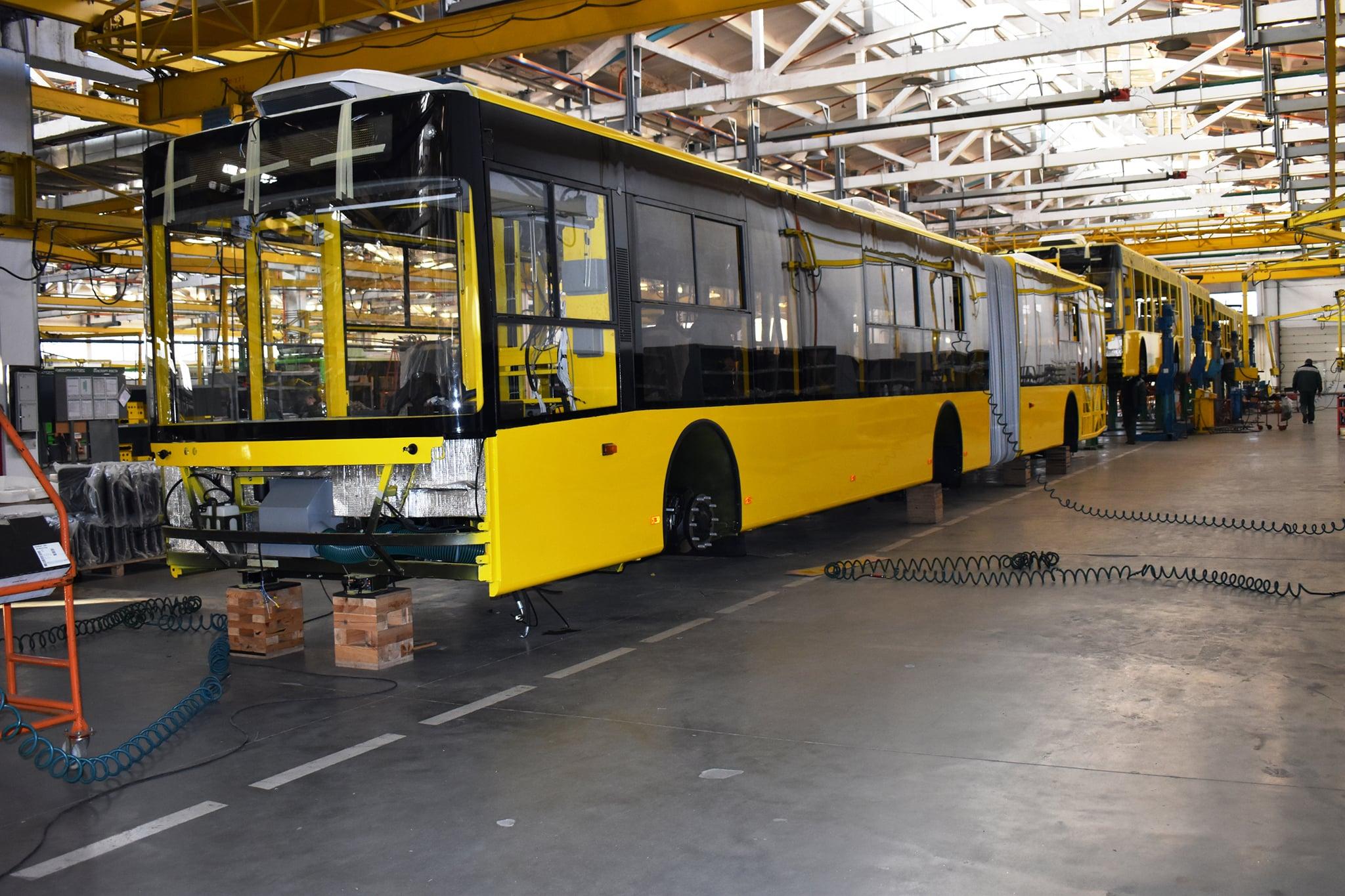 Богдан Моторс розпочав виготовлення нових тролейбусів для Київпастранс