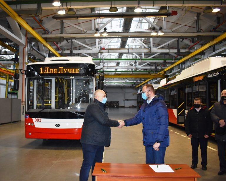 Луцьк отримав чергову партію нових тролейбусів