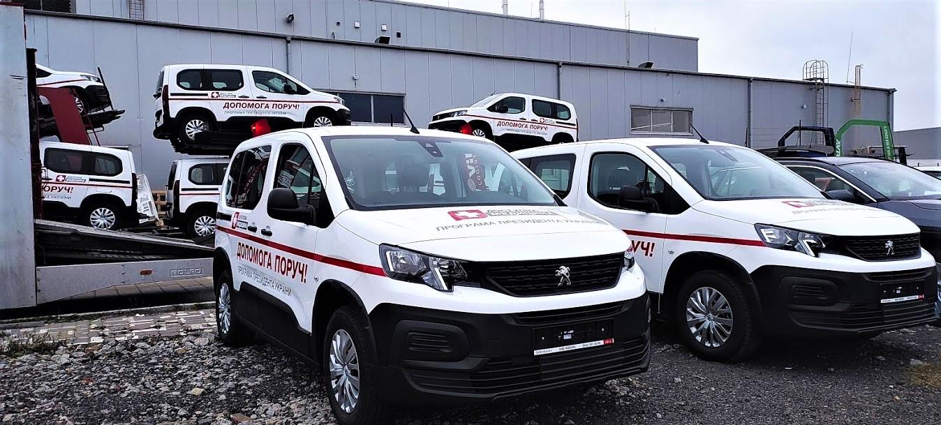 Медичні амбулаторії отримали 47 нових надійних автомобілів Peugeot Rifter
