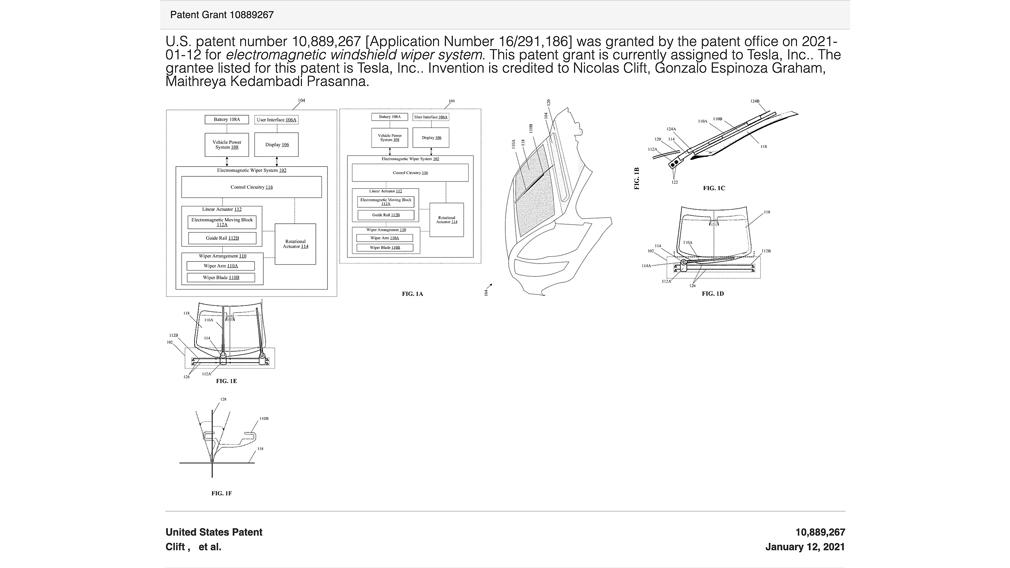 Компанія Tesla запатентувала унікальну технологію склоочисника для свого Roadster
