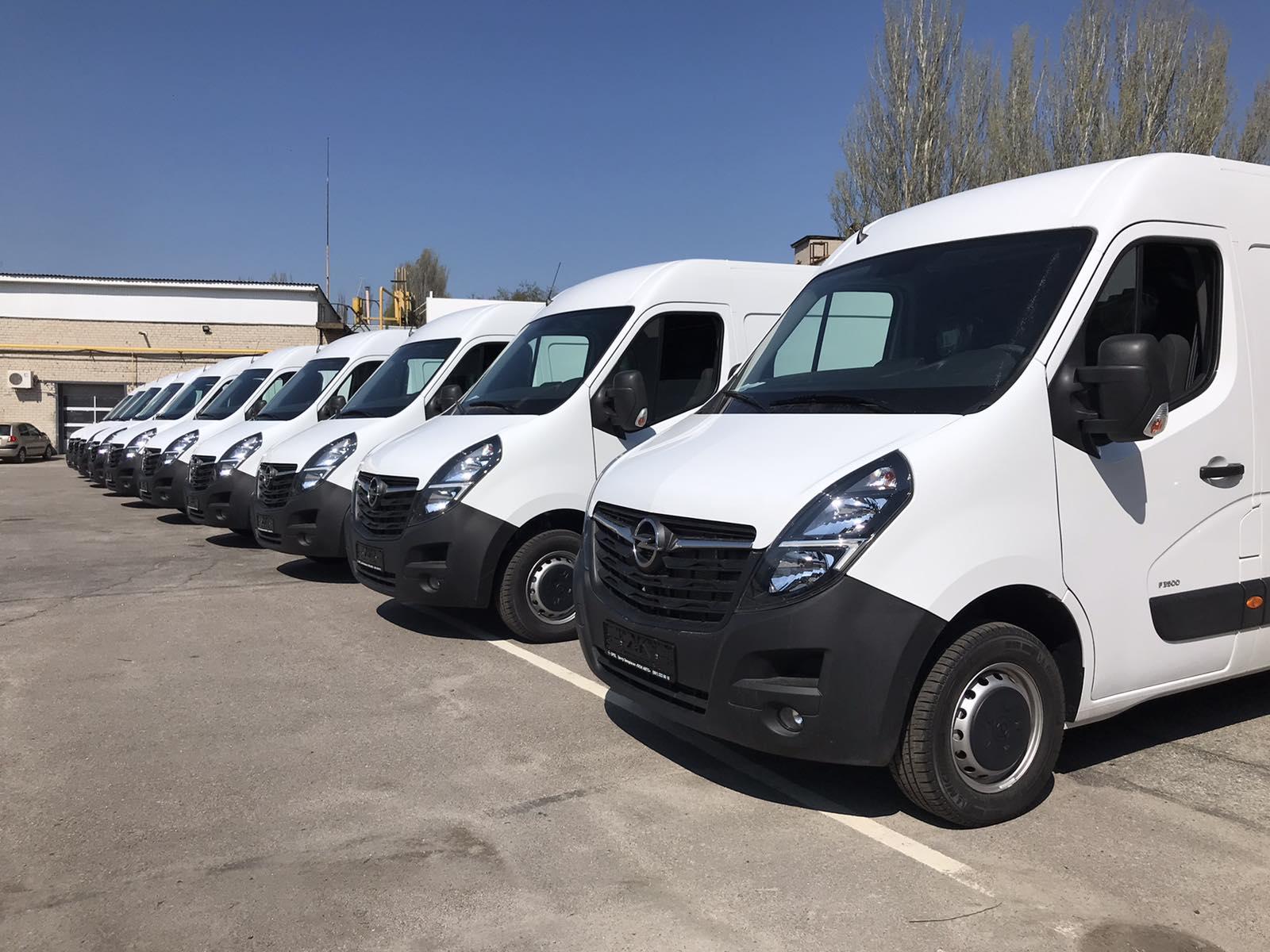 Фургони Opel Movano передані новому корпоративному клієнту